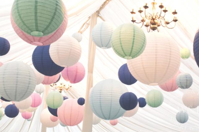 Middleton Lodge Pastel Coloured Lanterns