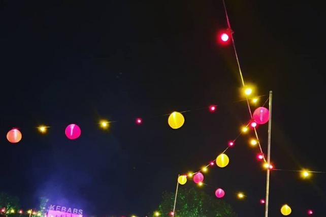 Hanging Lanterns at Latitude Festival