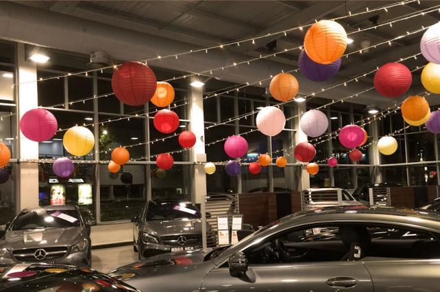 Paper Lanterns at Mercedes