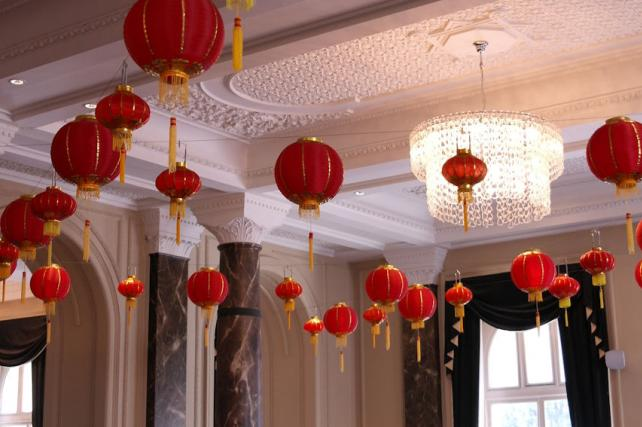 Traditional Chinese lanterns at The Grosvenor Hotel London