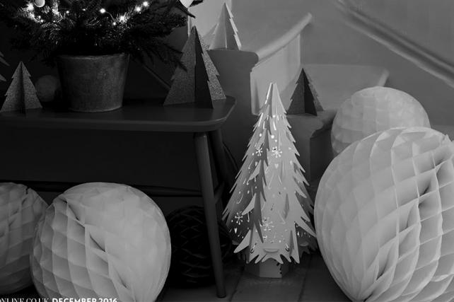 White Christmas Laser Cut Trees