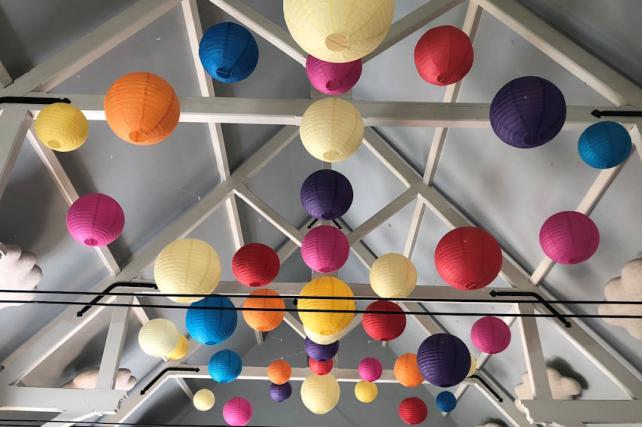Eridge Village Hall Paper Lanterns