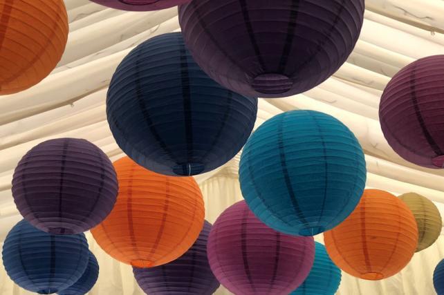 Indian Inspired Paper Lanterns