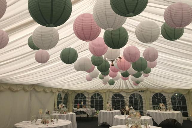 Marquee Lanterns at The English Wine Centre