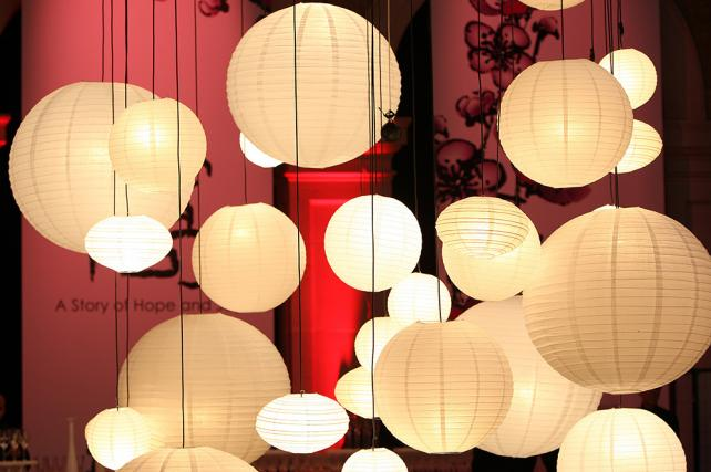 White paper lanterns McDonalds