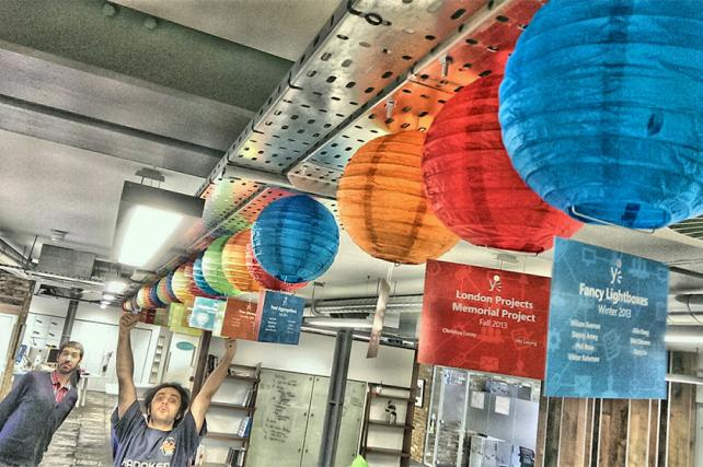 Microsoft Hanging coloured paper Lanterns