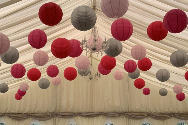 Mixed Coloured Paper Lanterns