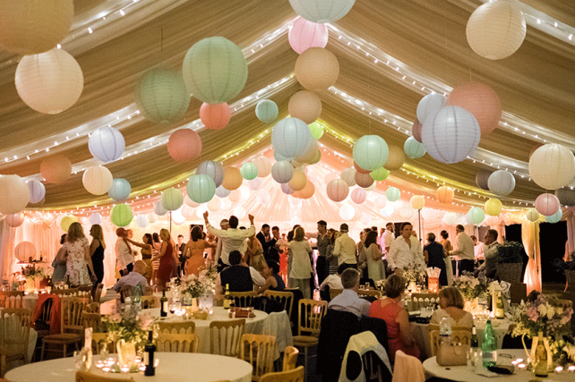 Wedding lanterns and inspirational wedding and marquee paper lantern pastel paper lanterns create a festival themed wedding junglespirit Images