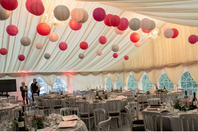 Paper Lanterns at Brambletye Centenary Ball