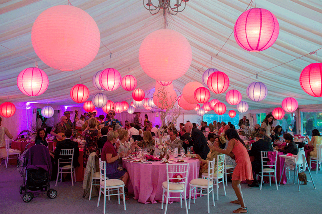 Pink and Purple Wedding Lanterns