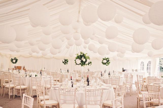 Pure White Paper Hanging Lanterns