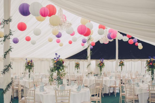 Rectory Farm Wedding Lantern Canopy