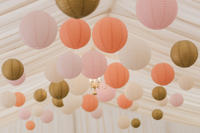 Squerryes Court Pastel Lantern Canopy