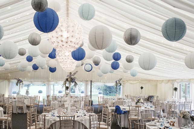 Wedding lanterns and inspirational wedding and marquee paper lantern a winter wonderland created by paper hanging lanterns junglespirit Images