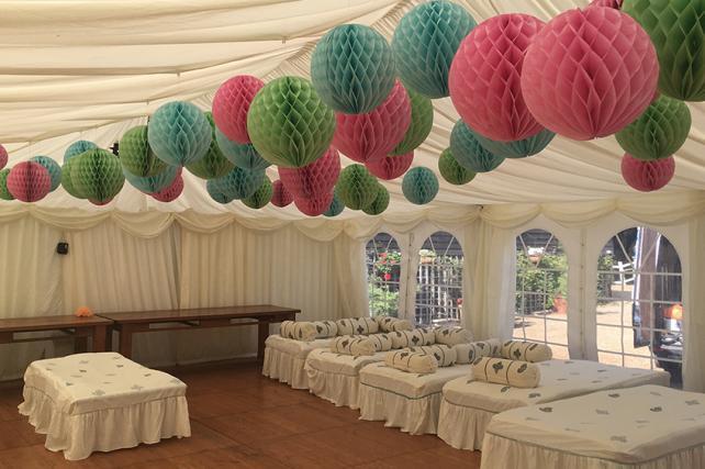 Honeycomb lanterns Swallows Oast Ticehurst