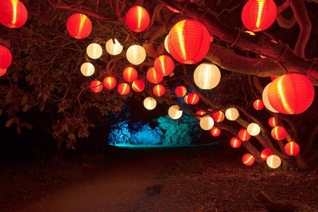 National Trust Red Lanterns illuminated