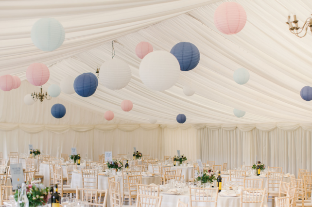 Wedding lanterns at Whethele Manor