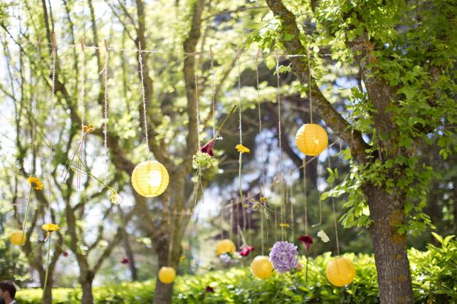 small yellow Chinese Lanterns