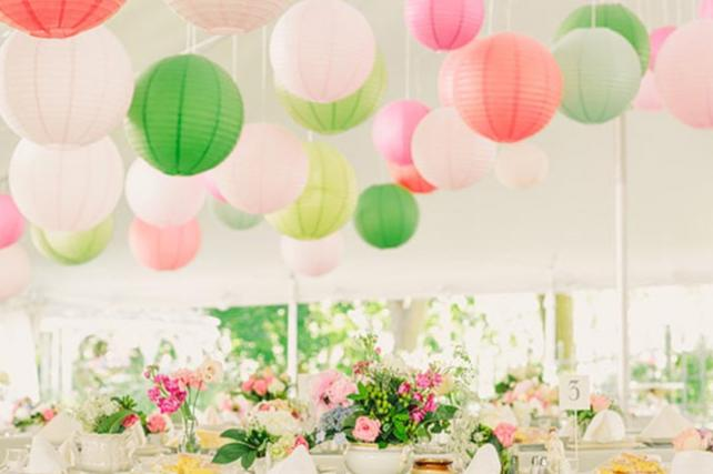 Festival inspired marquee lanterns