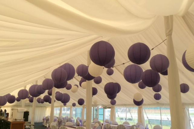 Paper lanterns at Great Yarmouth racecourse