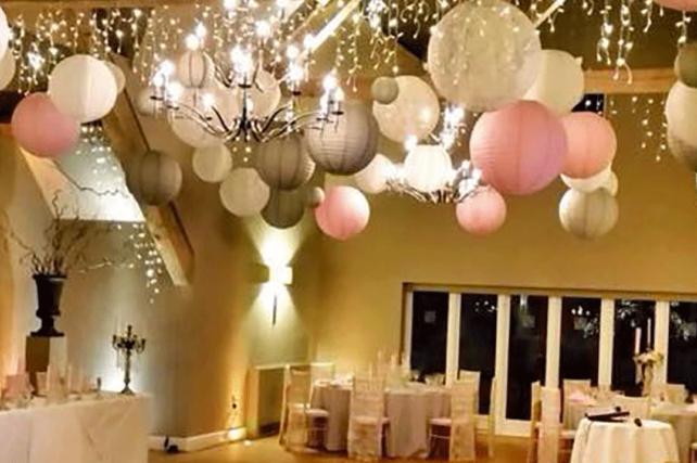 Glamourous Winter Hanging Lanterns