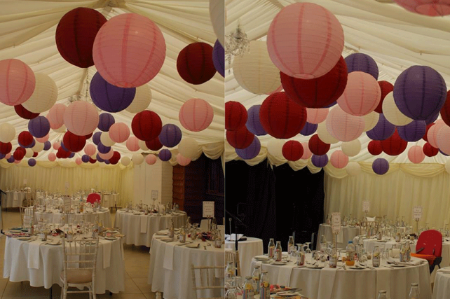 Autumnal Paper Lanterns And Autumn Coloured Lanterns