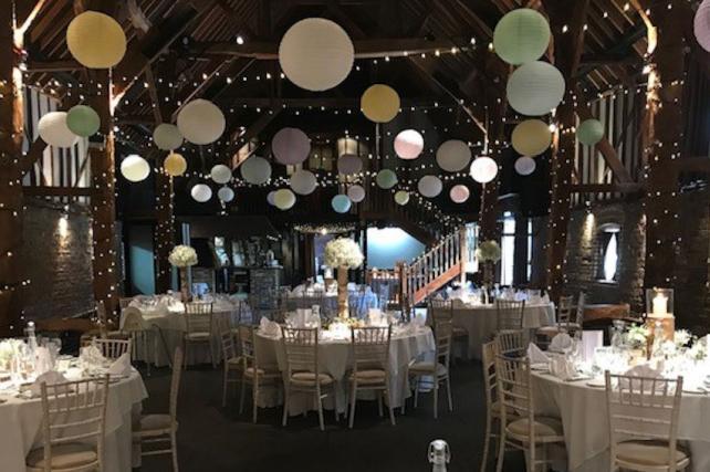 Cooling Castle Barn Wedding Lanterns