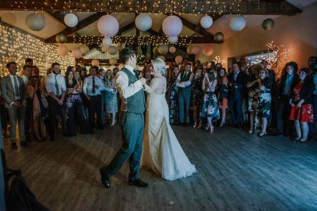 Dancing Under a Paper Lantern Canopy