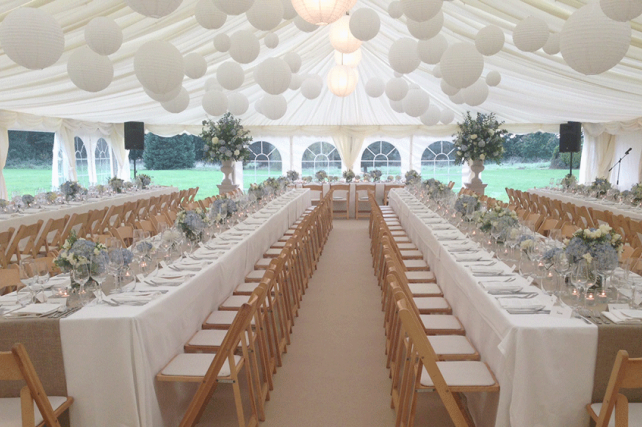 garden marquee wedding lanterns