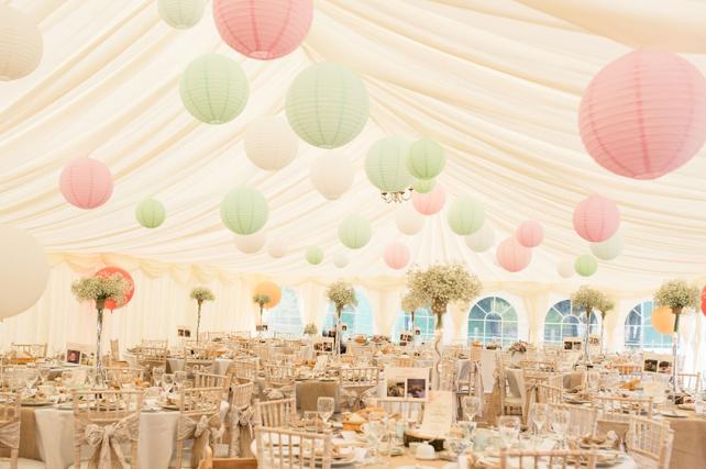Perfect pastel paper lanterns