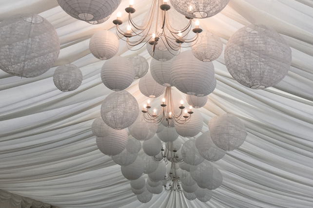 Lace wedding lanterns at The Parsonage, Scotland