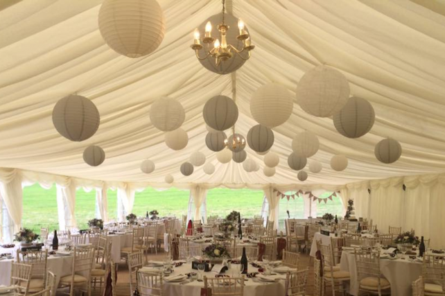 Heaven Farm wedding lanterns