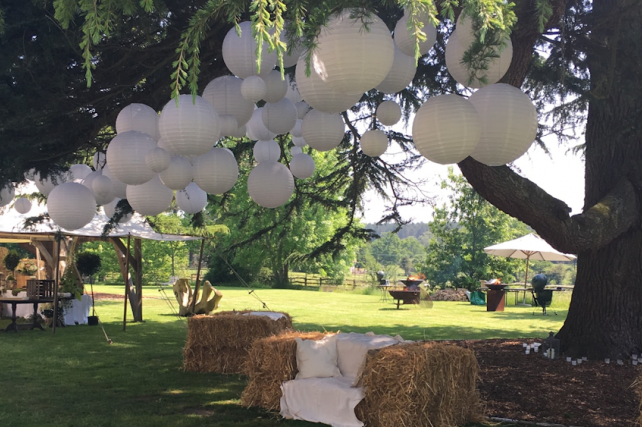 New Forest Wedding Lanterns