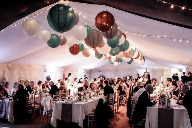 Illuminated wedding paper lanterns