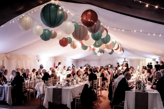 Illuminated wedding paper lanterns