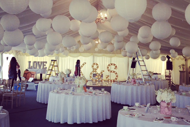 Wedding Angel white lanterns