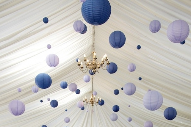 Purple wedding lanterns