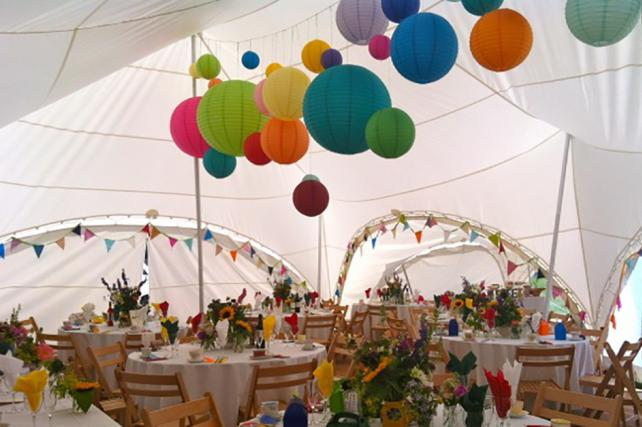 Capri Marquee Mad Hatters lanterns