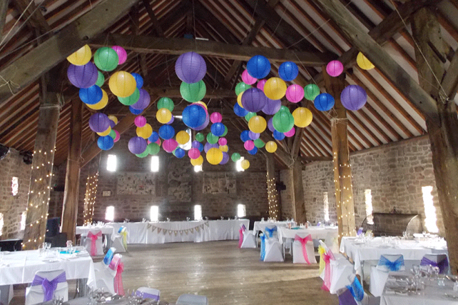 Mad Hatter's Lanterns at The Manorial Barn, Whiston
