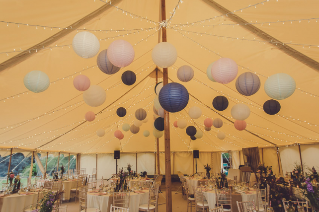 Mark and Charlotte's Petal marquee lanterns