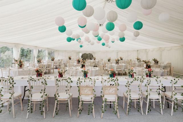 Marquee wedding lanterns