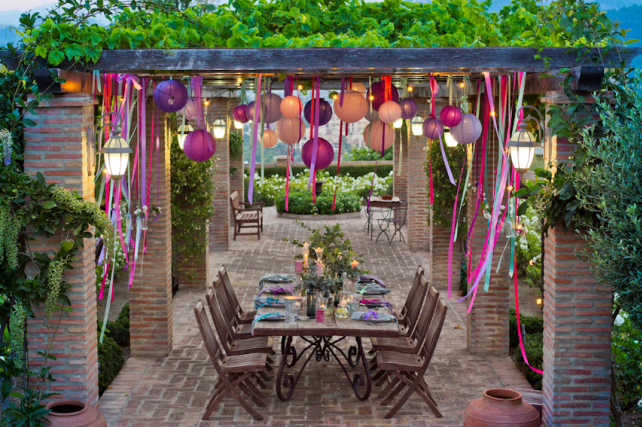 Outdoor Coloured Lanterns