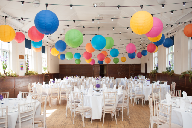 Paper Lanterns and Festoon Canopy