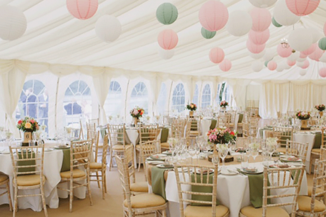 pink and Sage marquee Lanterns