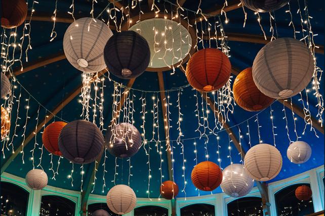 Purple wedding lanterns at The Matara Centre