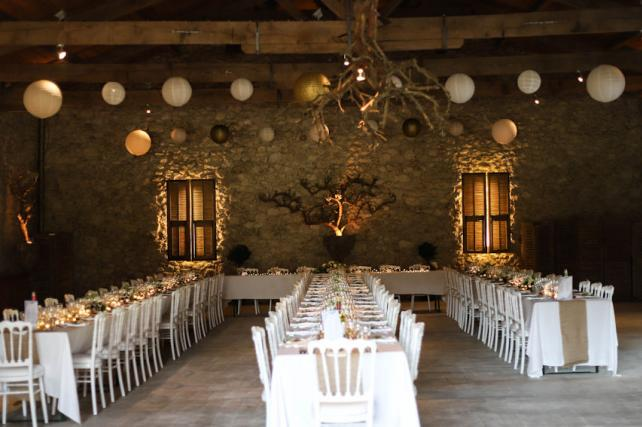 Rustic Barn Wedding Lanterns
