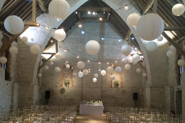 Winter wedding at The Tithe Barn, Petersfield