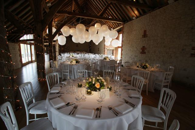 White and Ivory vintage wedding paper lanterns