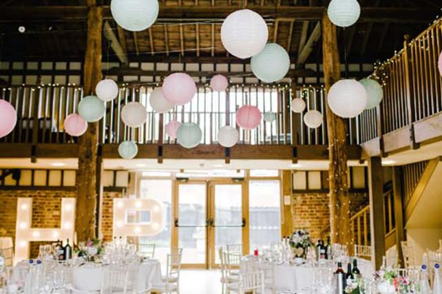 Vintage wedding lanterns