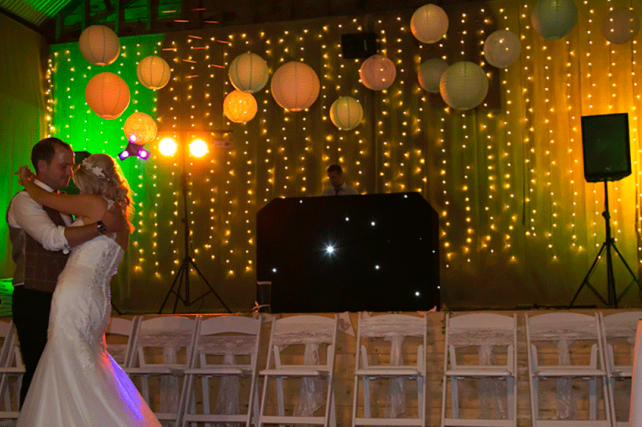 wedding dance floor lanterns